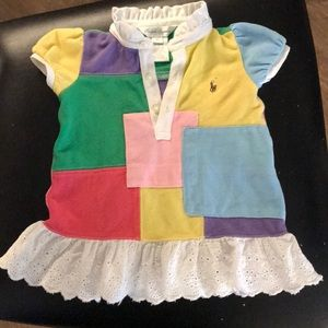 Ralph Lauren patchwork eyelet girls dress 6 mo